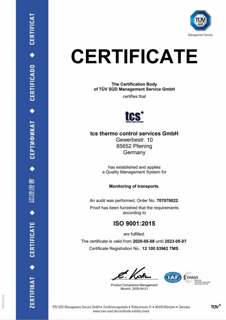 DIN ISO 9001 english